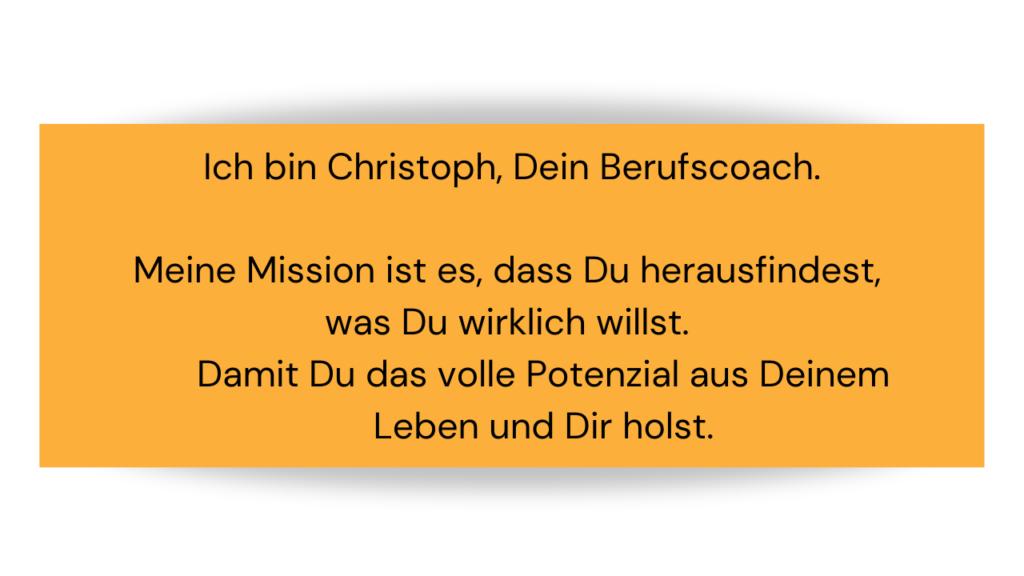Mission, mein warum, Vision, Berufscoach, Berufsberater